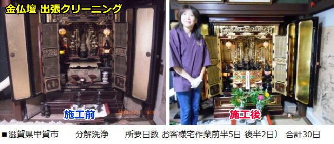 彦根仏壇出張クリーニング お客様宅内で分解洗浄 前半5日、後半2日、計30日間